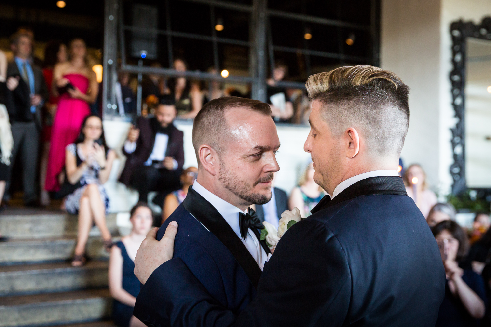 First dance at a same sex wedding celebration in Washington DC