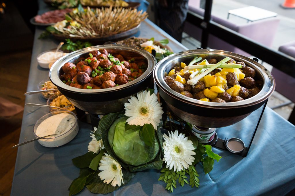 Buffet at a same sex wedding celebration in Washington DC