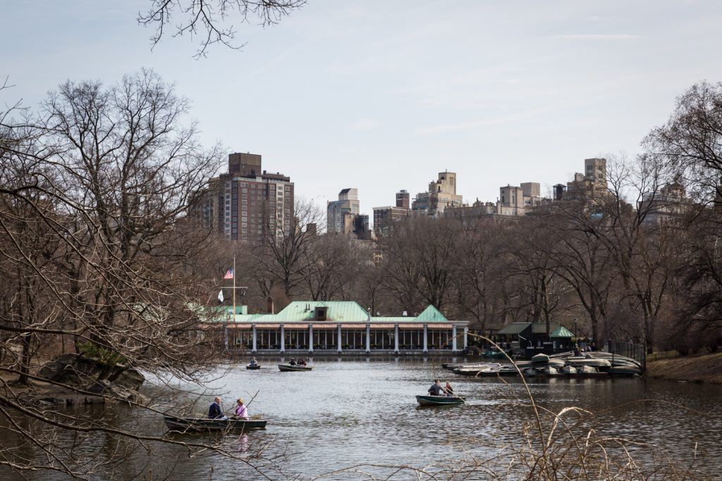 Central Park Lake with Loeb Boathouse in the background