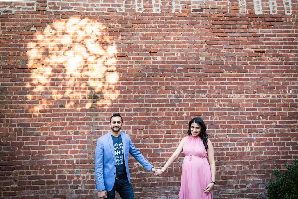 Portrait of a mother-to-be and husband for an article on maternity portrait tips