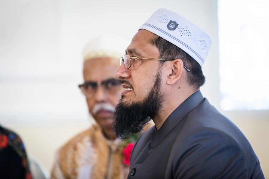 Imam during Muslim wedding ceremoy for an article on wedding photography timeline tips
