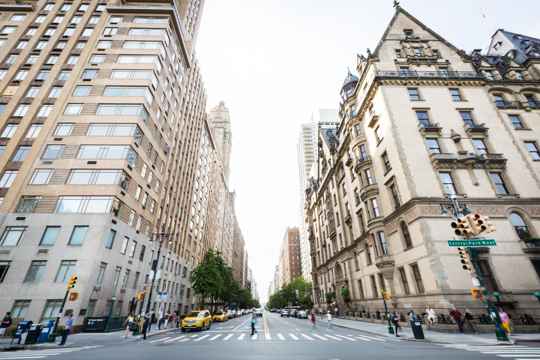 View down 72nd Street for an article entitled, 'Do you need a permit to get married in Central Park?'
