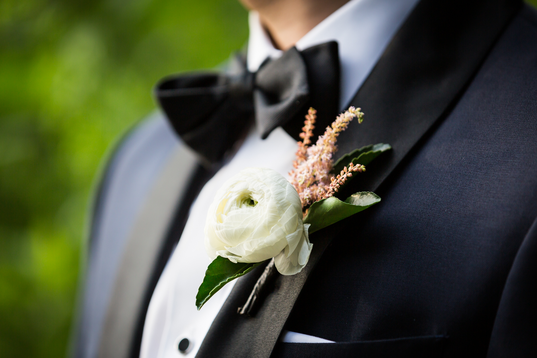 Boutonniere for an article entitled, 'Do you need a permit to get married in Central Park?'