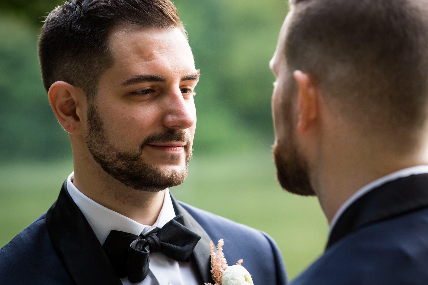 Grooms saying vows for an article entitled, 'Do you need a permit to get married in Central Park?'