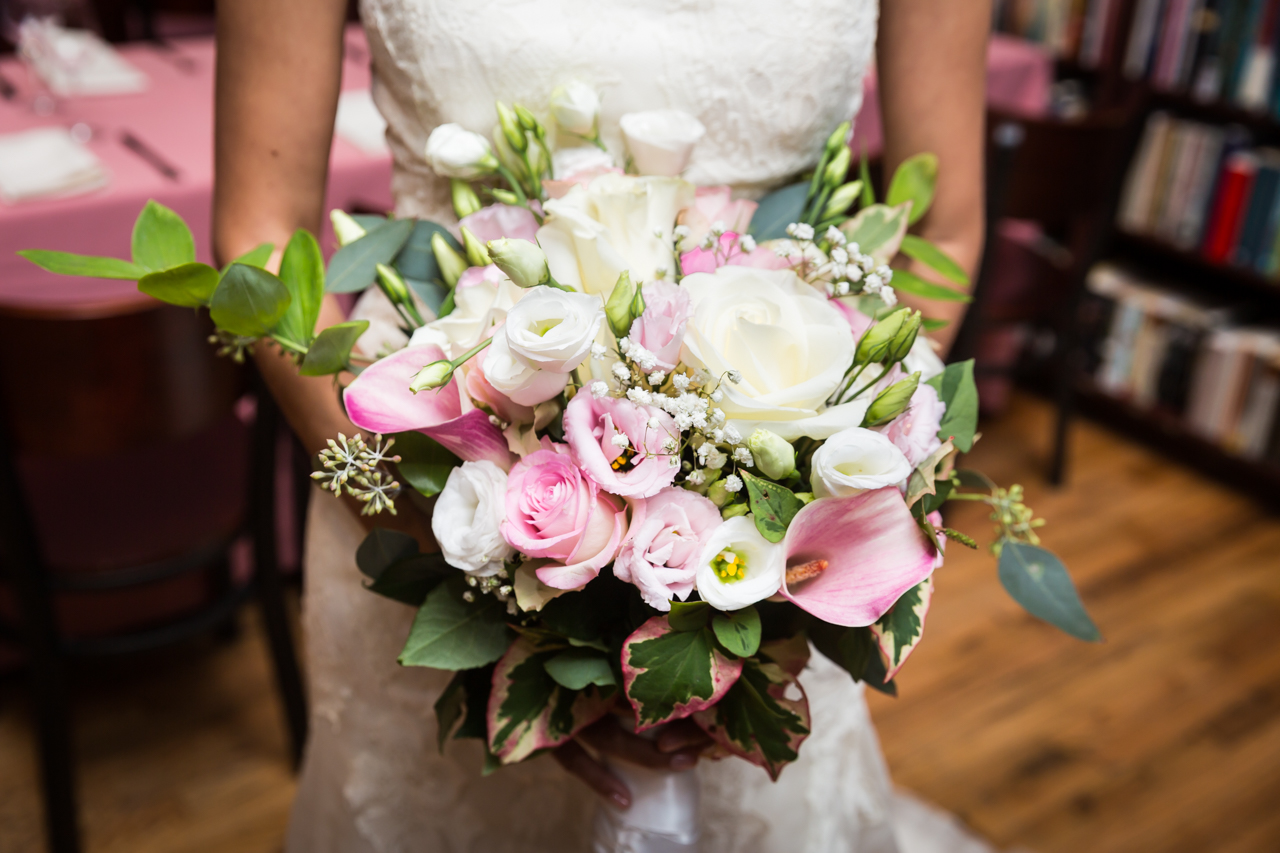 Bridal bouquet for an article on non-floral centerpiece ideas