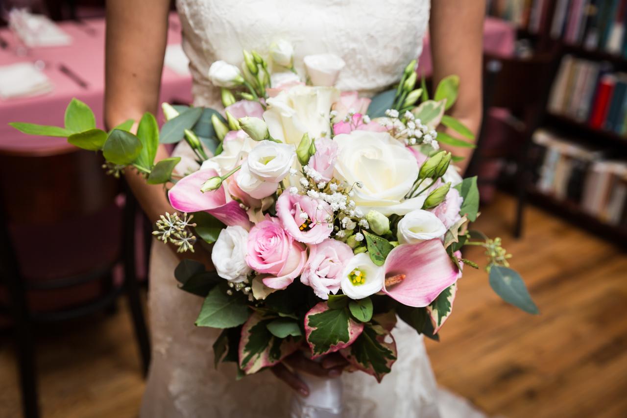 Bridal bouquet for an article on non-floral centerpiece ideas