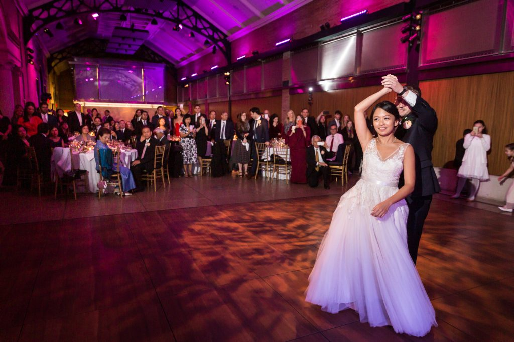 Bride and groom first dance Bronx Zoo wedding photos