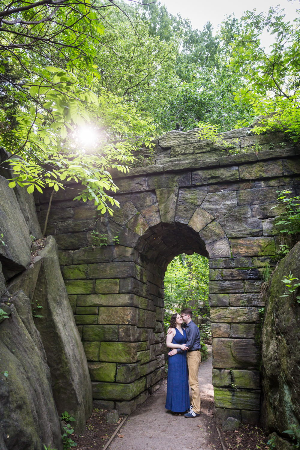Couple underneath the Ramble Stone Arch