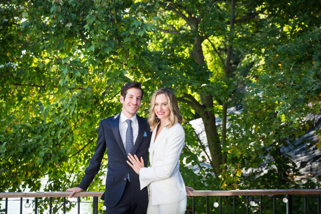 Portrait of bride and groom in Central Park for an article on how to modernize your wedding