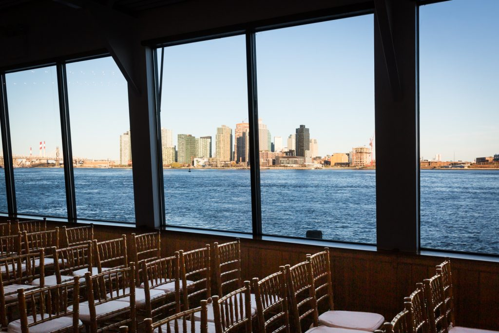 Water Club ceremony space with view to Queens skyline