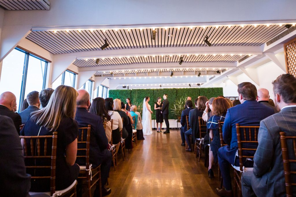 Wide shot of Water Club ceremony space at a Water Club wedding
