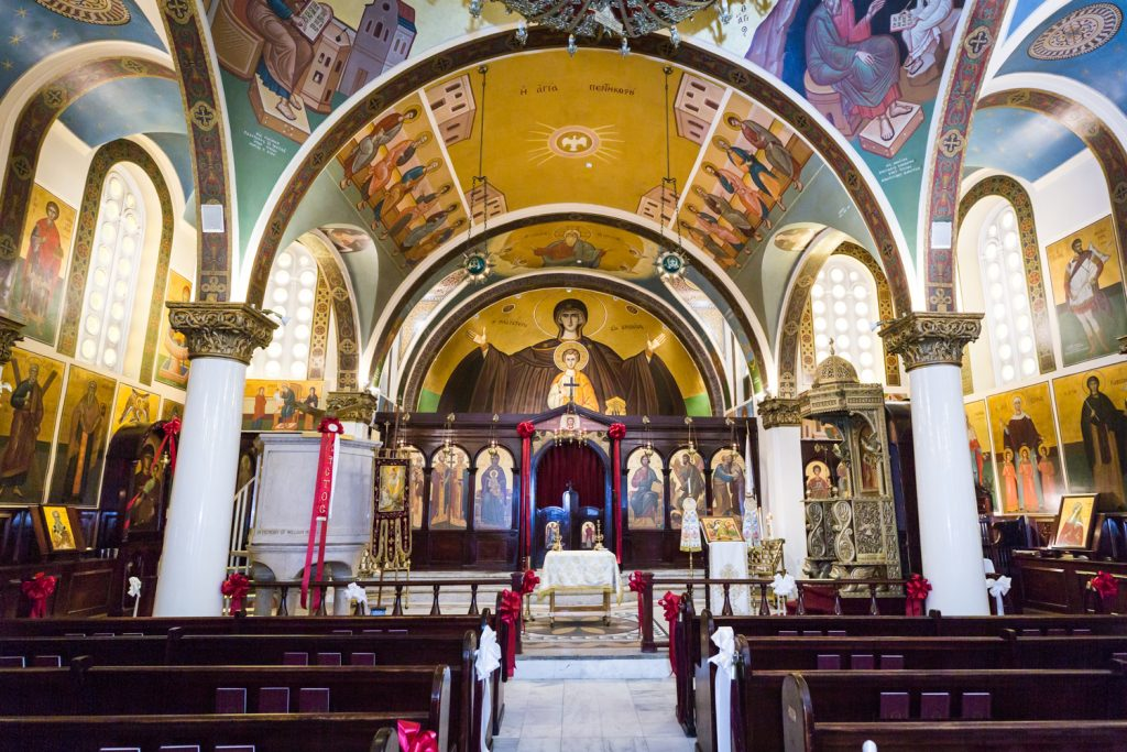Interior of Saints Constantine and Helen Greek Orthodox Cathedral of Brooklyn