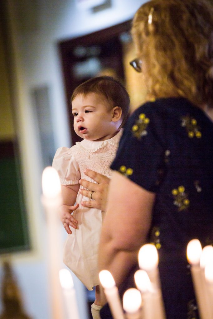 Greek orthodox baptism photos of baby about to be baptized