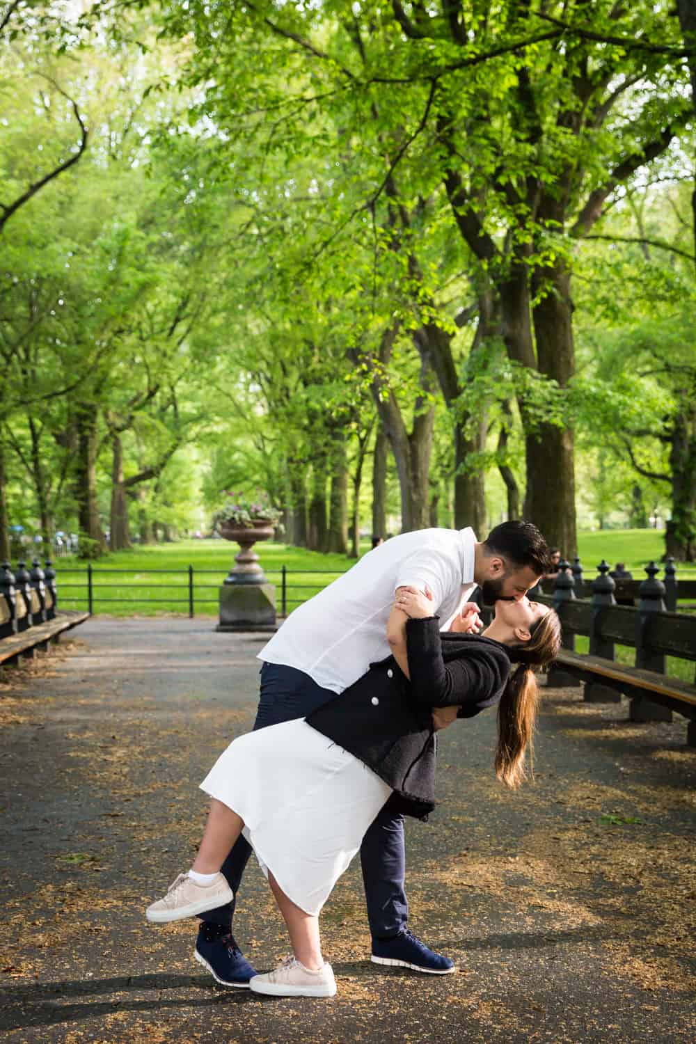 Couple dancing on the Mall in Central Park