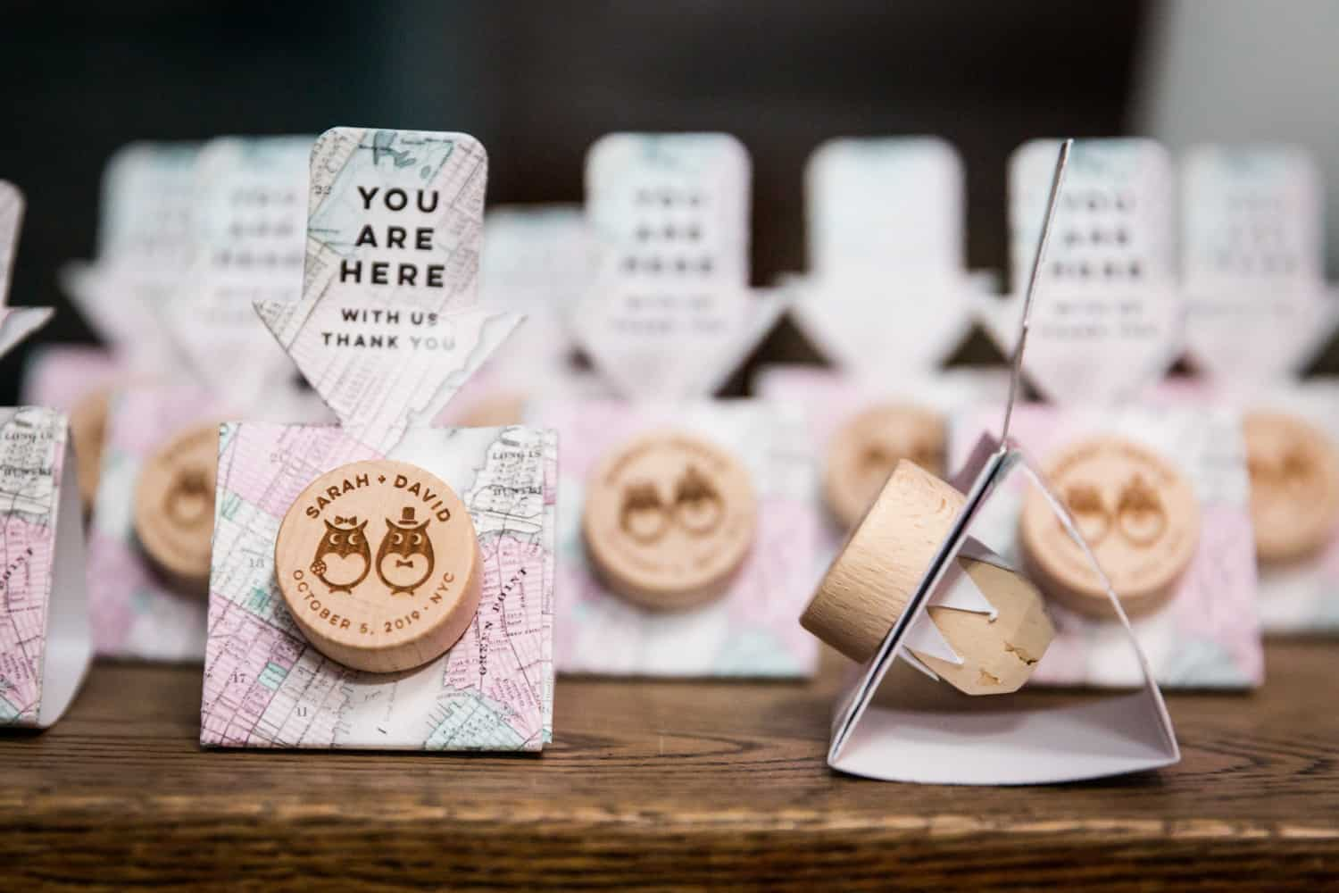 Personalized guest favors of bottle stoppers