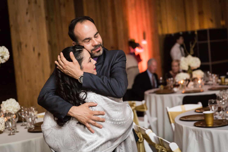 Couple dancing during Florida wedding reception