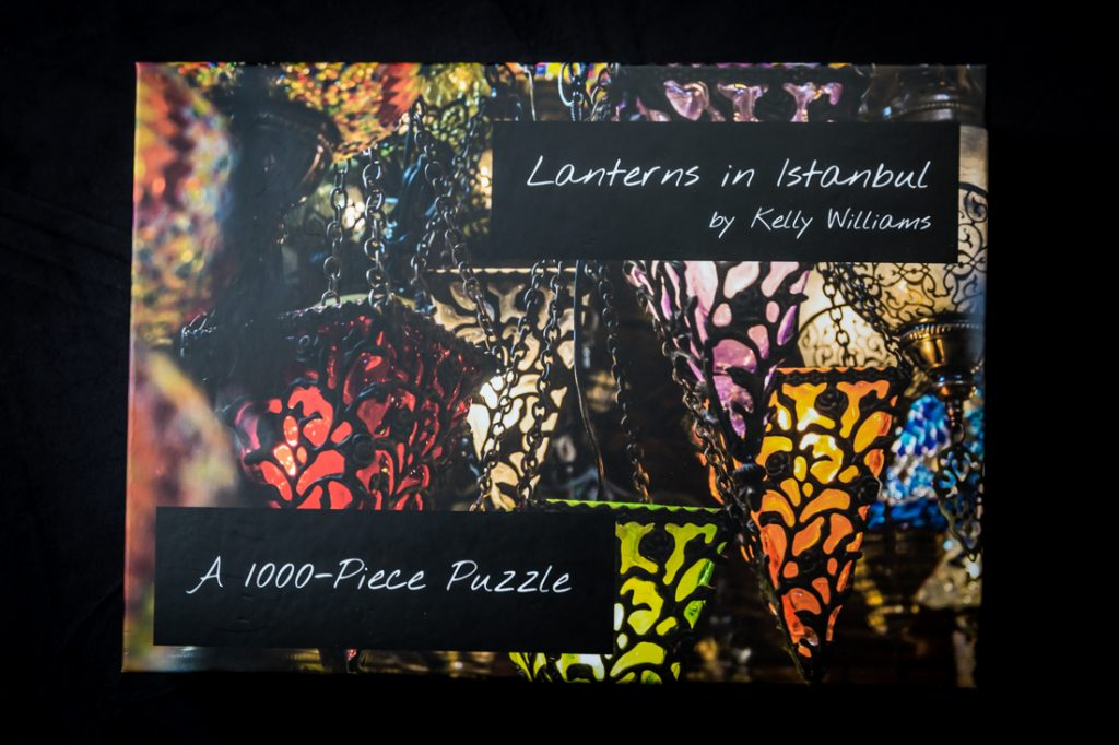 'Lanterns in Istanbul' puzzle box for an article on how to create your own puzzle