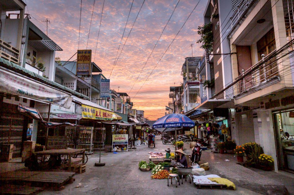 Street scene in Vinh Long, Vietnam