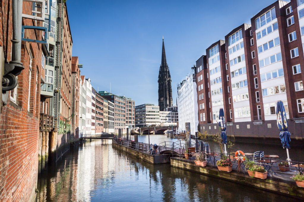 Canal in Hamburg, Germany