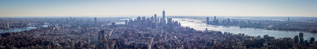 Panoramic view of New York City from top of Empire State Building