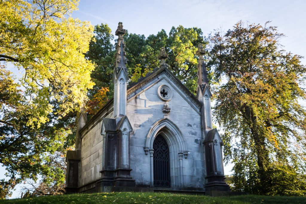 Gothic mausoleum at Green-Wood Cemetery