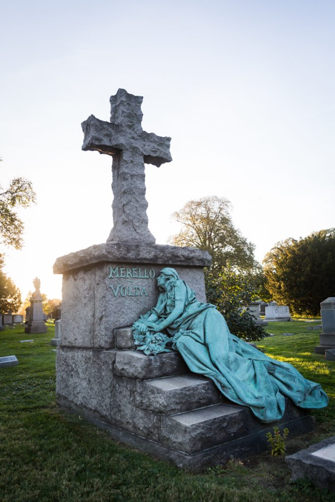 Monument to Rose Merello Guarino at Green-Wood Cemetery
