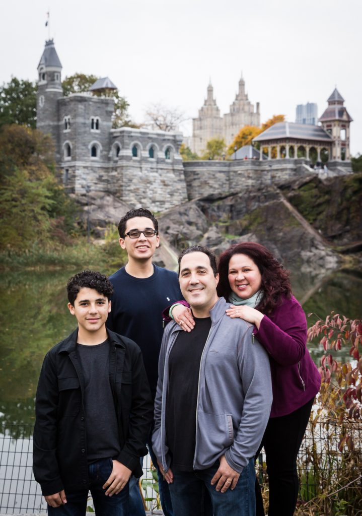 Family in front of Belvedere Castle