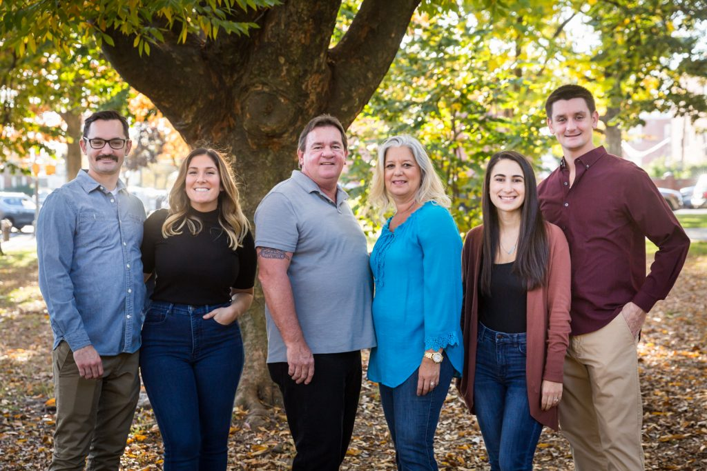 Family of six during a Juniper Valley Park family portrait session