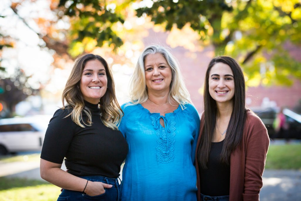Three women during Juniper Valley Park family portrait session